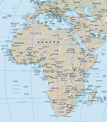 Africa google maps world gazetteer google driving directions africa map there are almost 200 sovereign states in the world today in 1950 there were only 82 over the last half century national self determination has gumiabroncs Gallery