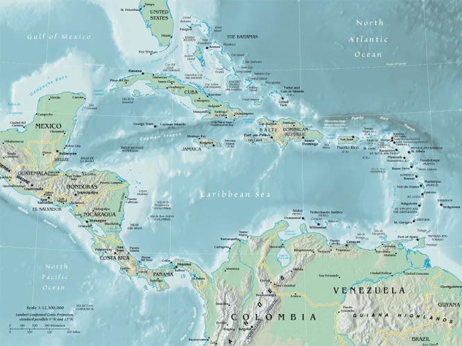 Central America Google Maps World Gazetteer Amp Google