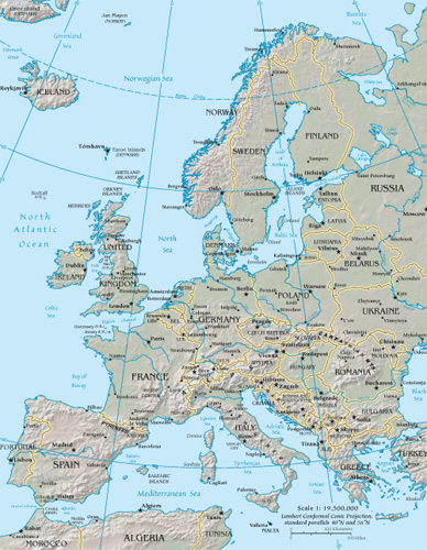 Europe Google Maps World Gazetteer Google Driving Directions