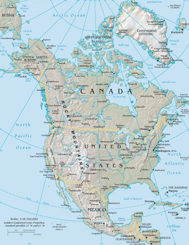 North America Google Maps World Gazetteer Google Driving Directions