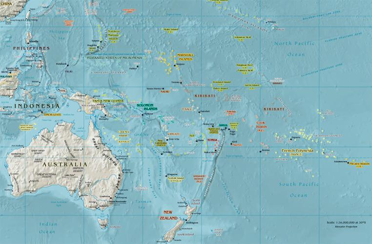 Oceania Google Maps World Gazetteer Google Driving
