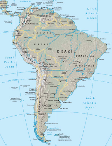 South America Google Maps World Gazetteer Google Driving Directions